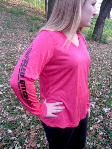 Ass Fast - Ladies Raspberry Long Sleeve 3