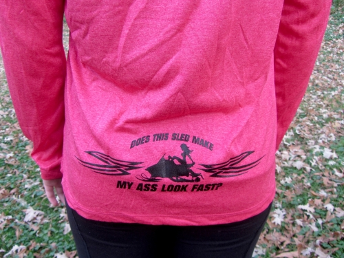 Ass Fast - Ladies Raspberry Long Sleeve 2