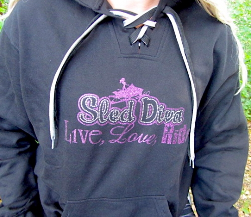 Bling Purple Sled Diva Hockey Style Hoodie 2