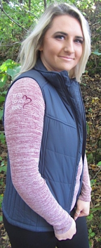 Grey  Sled Diva Puff Vest 3
