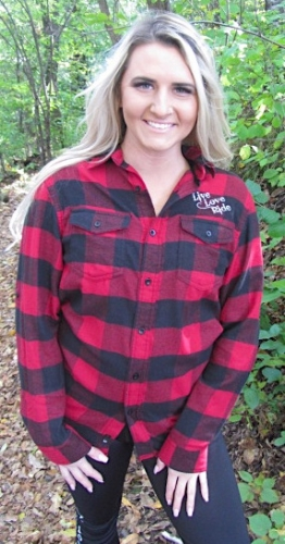 Buffalo Red/Black Flannel L/S Live Love RIDE Shirt 2
