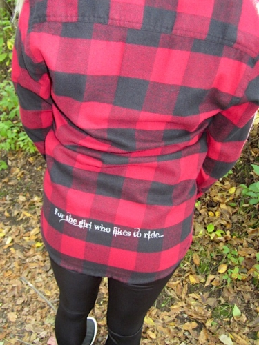 Buffalo Red/Black Flannel L/S Live Love RIDE Shirt 4