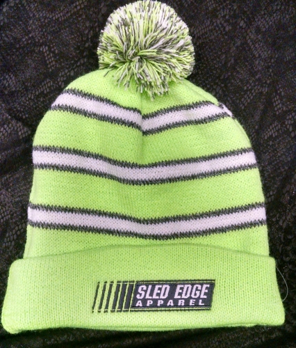 Fold-Over Stripped Sled Edge Beanie - Youth 3
