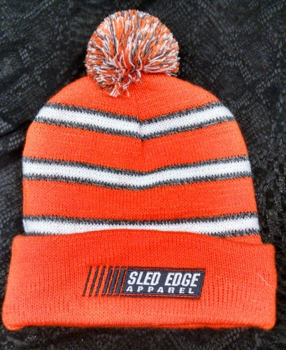 Fold-Over Stripped Sled Edge Beanie - Youth 2