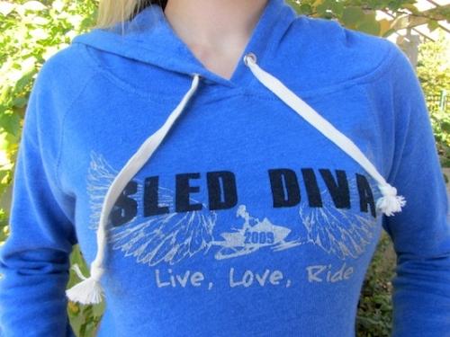 Royal Blue Sled Diva Halo Angel Fleece Ladies Pull-Over 4