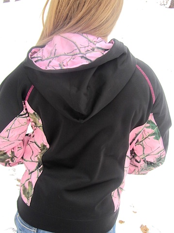 Pink Forest Sled Diva RIDE Soft Shell Pull-Over 3