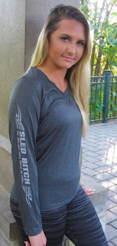 Ass Fast Heather Charcoal Long Sleeve 3