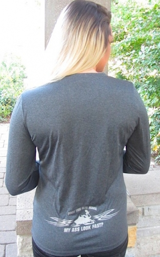 Ass Fast Heather Charcoal L/S 2
