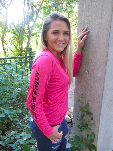 Ass Fast - Ladies Raspberry Long Sleeve 6