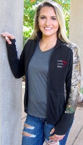 Black/Camoflauge Ladies Full-Zip Fleece 2