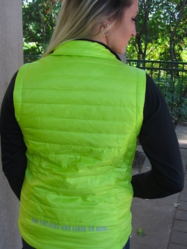 Quilted Lime Green Puffy Sled Bitch Vest 5