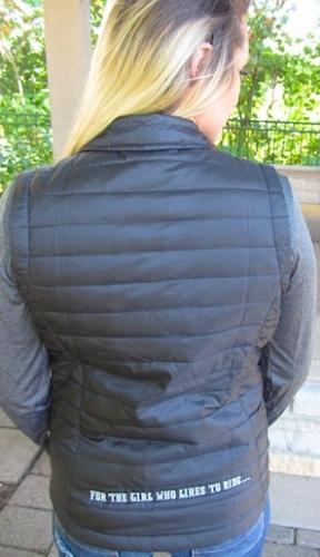 Black Sled Bitch Puffy Zip Vest 3