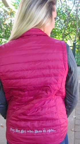 Burgendy LLR Full Zip Puffy Vest 3