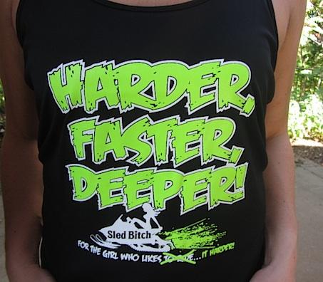 Faster HARDER DEEPER Black Racer Back Tank 2