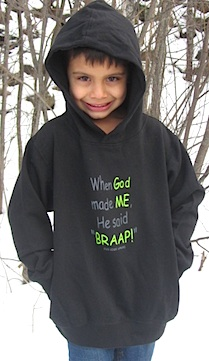 BRAAP!  Black Toddler Hoodie With Pockets 2