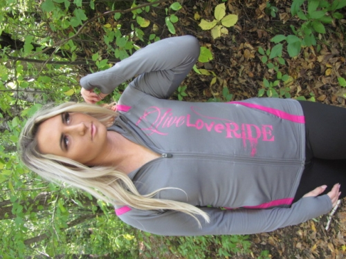 Graphite /Hot Pink  Ladies Full Zip 4