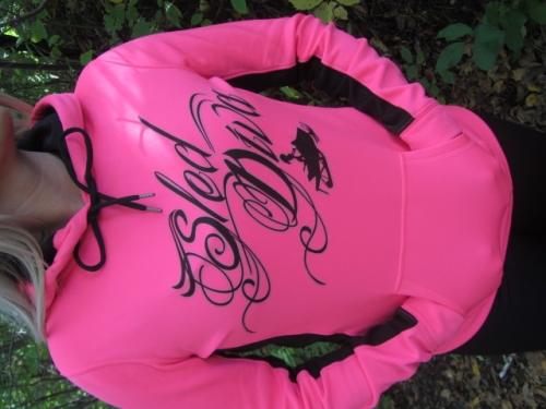 BOLD Hot Pink/Black Sled Diva Swirl Hoodie 3