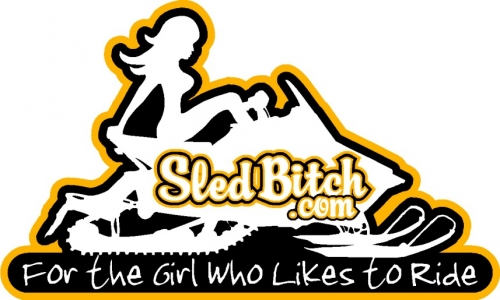 Sled Bitch Small Decal 2
