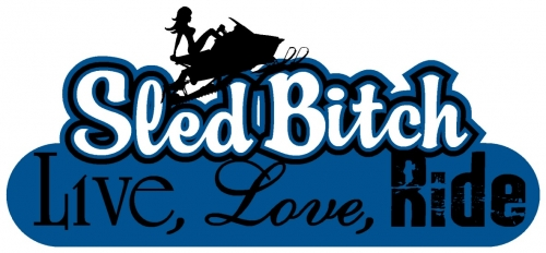 Live Love Ride - Sled Bitch Decal 4