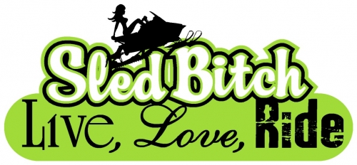 Live Love Ride - Sled Bitch Decal 3