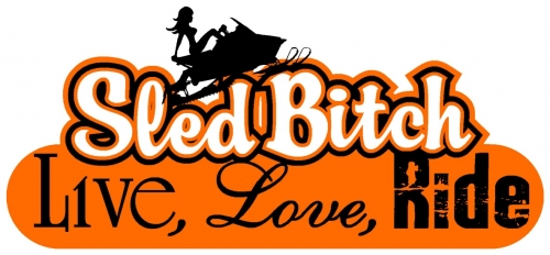 Live Love Ride - Sled Bitch Decal 6