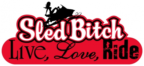 Live Love Ride - Sled Bitch Decal 5