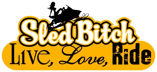 Live Love Ride - Sled Bitch Decal 2