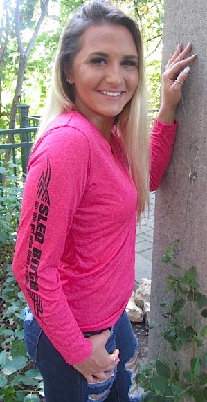 Ass Fast - Ladies Raspberry Long Sleeve