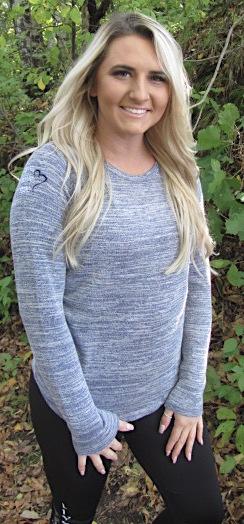 Navy Heather L/S Crewneck Sweater LLR