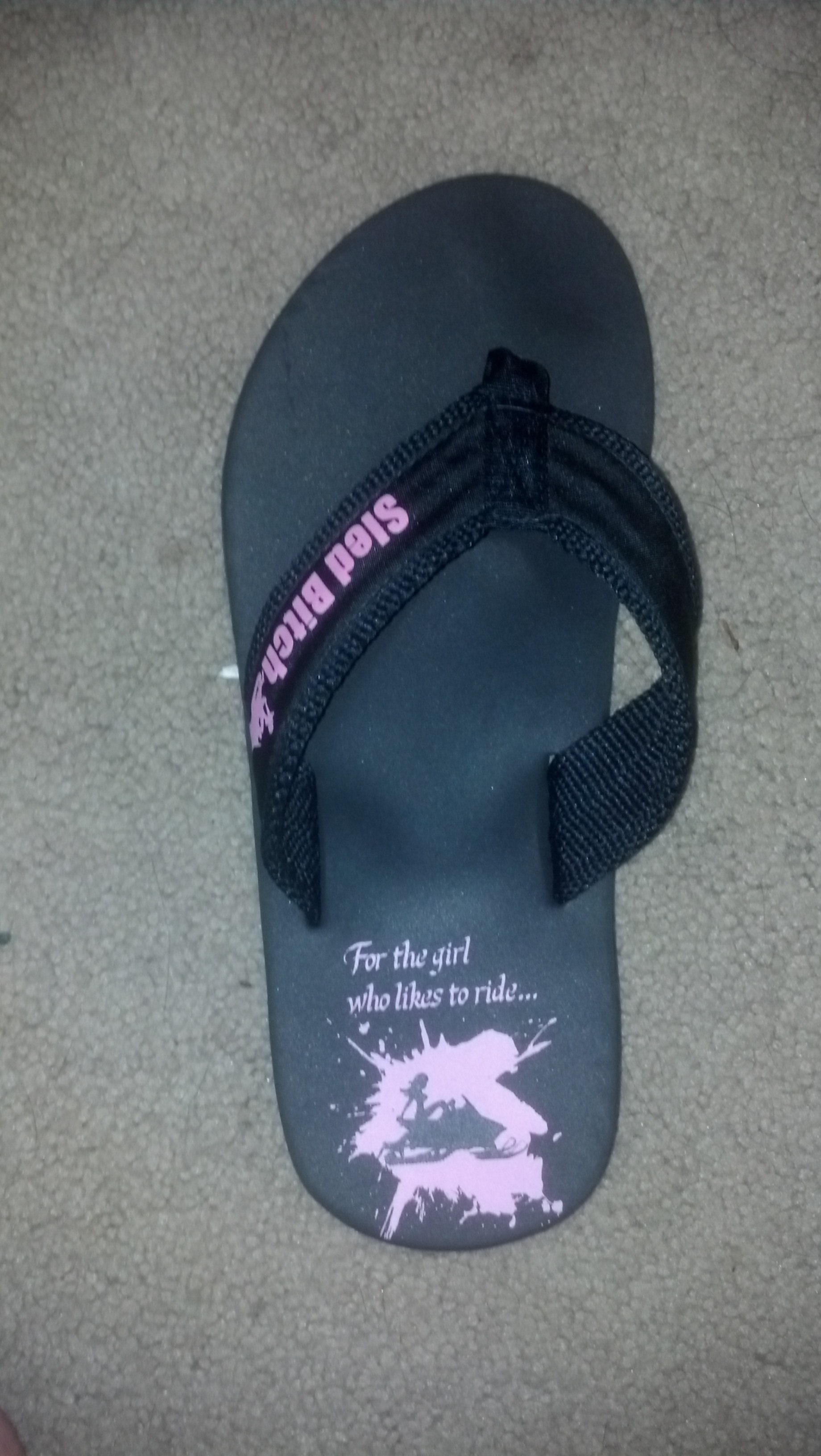 $12 Sled Bitch Flip Flops! Made in the USA