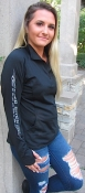 Ass Fast Ladies 1/4 Zip Black/Metallic Silver
