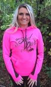 BOLD Hot Pink/Black Sled Diva Swirl Hoodie