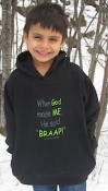 BRAAP! When God Made ME Black Toddler Hoodie