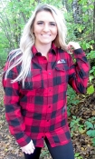 Buffalo Red/Black Plaid Flannel Sled Bitch L/S