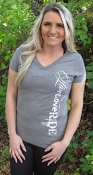 Grey Live Love RIDE V- Neck Tee