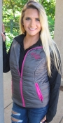 Live Love RIDE - Women's Radius Vest - Grey/Pink $80