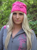 Hot Pink  Fitted Skull Cap - Live Love RIDE