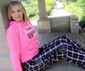 $20 Pink Sled Diva Live Love RIDE Hoodie - CLOSE-OUT