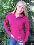 $28 Pink Rush LLR Ladies 1/4 Zip