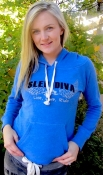 Royal Blue Sled Diva Halo Angel Fleece Ladies Pull-Over
