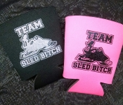 NEW TEAM Sled Bitch SOLO Cup Koozie