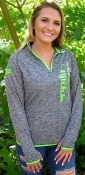 $52 HOT DEAL Carbon Heather/Lime Sled Bitch Tech 1/4 Zip
