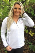 White  Ladies Tech Half Zip LLR