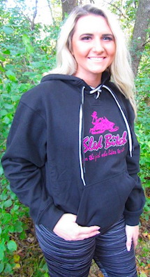 Bling Pink Sled Bitch Hockey Style Hoodie 3
