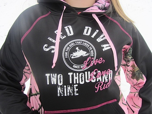 Pink Forest Sled Diva RIDE Soft Shell Pull-Over 4