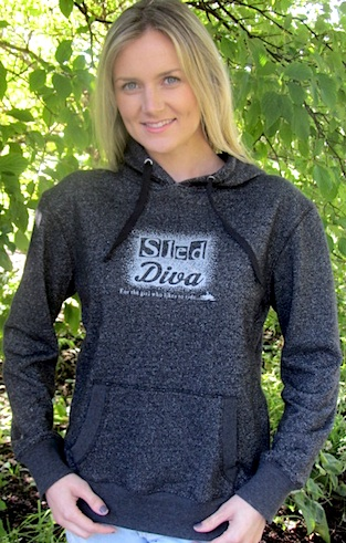 $26 Blow-out Black Sparkle Sled Diva Hoodie