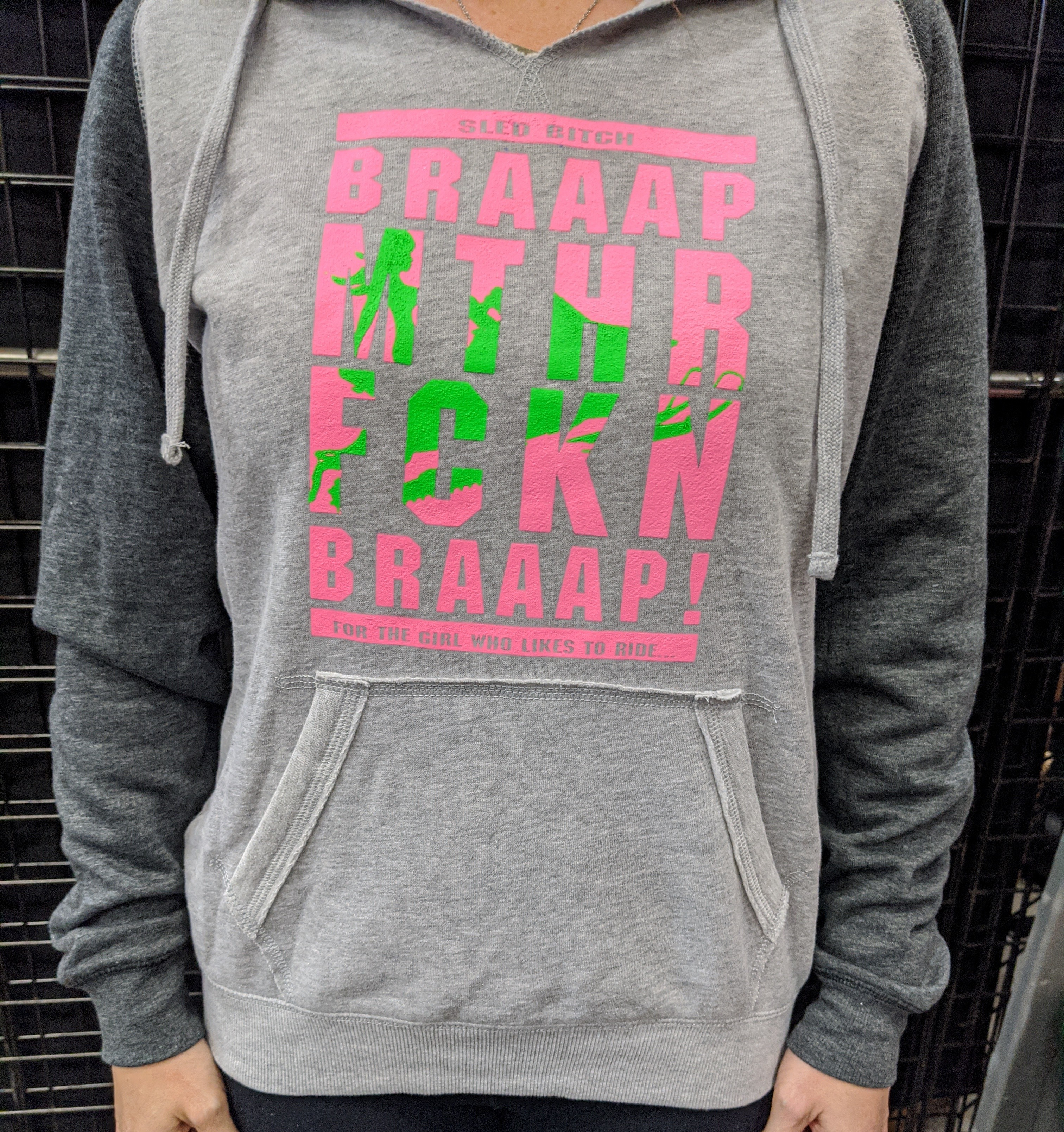 MTHR FCKN Braaap! Heather Charcoal Hoodie
