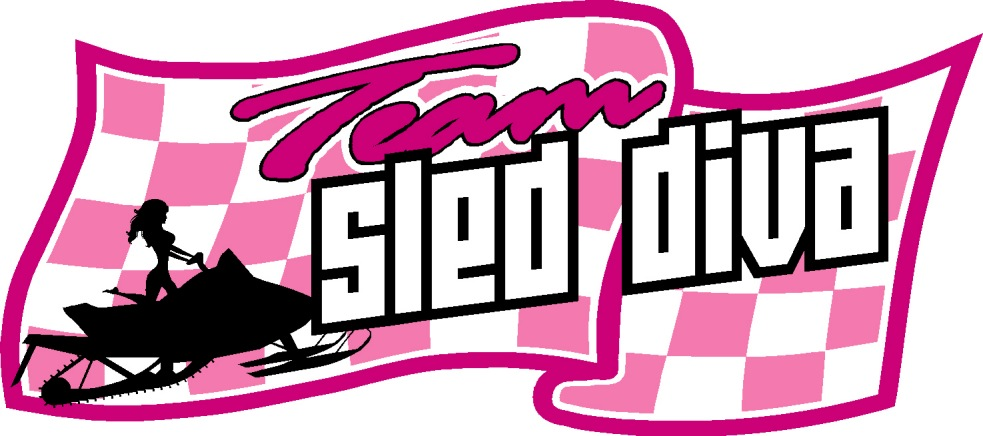 Team Sled Diva Decal Reflective
